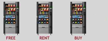 Combo Vending Machine for Free to Rent or Buy