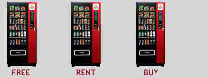 Glass Front Vending Machine for Free to Rent or Buy