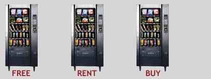 Snack Vending Machine for Free to Rent or Buy